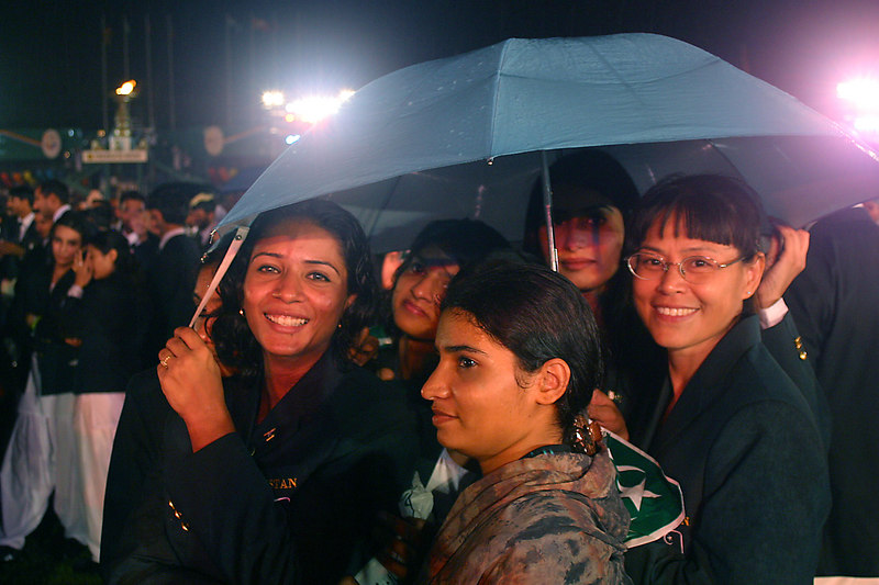 The rain did not dampen any spirits.  There were always lots of smiles.