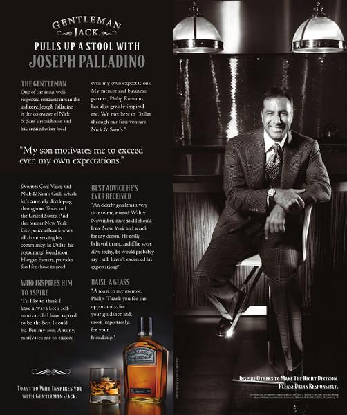 Joseph Palladino for Gentleman Jack featured in June 2012 issue of Modern Luxury Dallas
