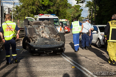 Car Rollover - Stanmore NSW, 5 Mar 2013
