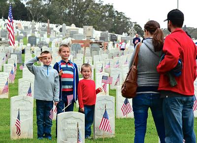 Memorial Day, 2015, at the SF Presidio National Cemetery