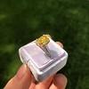 3.00ct Yellow Orange Sapphire Solitaire 66