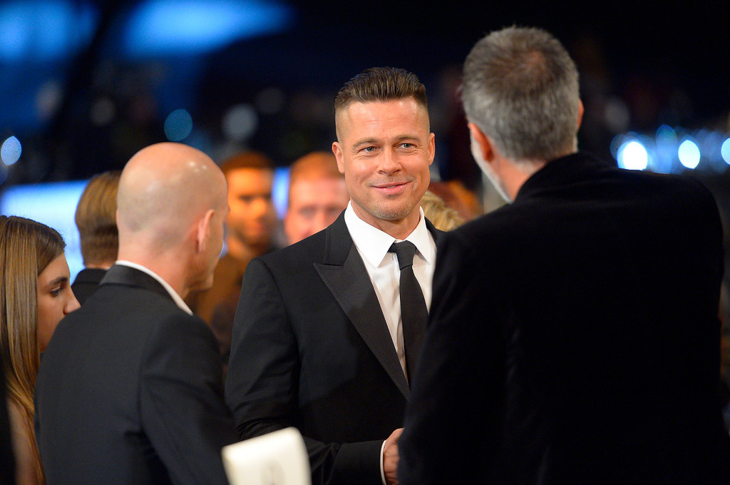 . Brad Pitt during the show of the 20th Annual Screen Actors Guild Awards  at the Shrine Auditorium in Los Angeles, California on Saturday January 18, 2014 (Photo by Andy Holzman / Los Angeles Daily News)