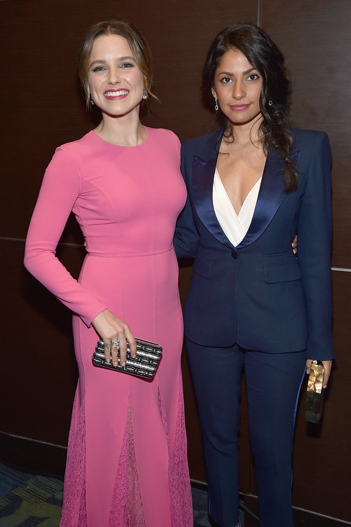 . Actress Sophia Bush (L) and founder of Lovesocial Azita Ardakani attend the Yahoo News/ABC News White House Correspondents\' Dinner Pre-Party at Washington Hilton on April 30, 2016 in Washington, DC.  (Photo by Dimitrios Kambouris/Getty Images for Yahoo)
