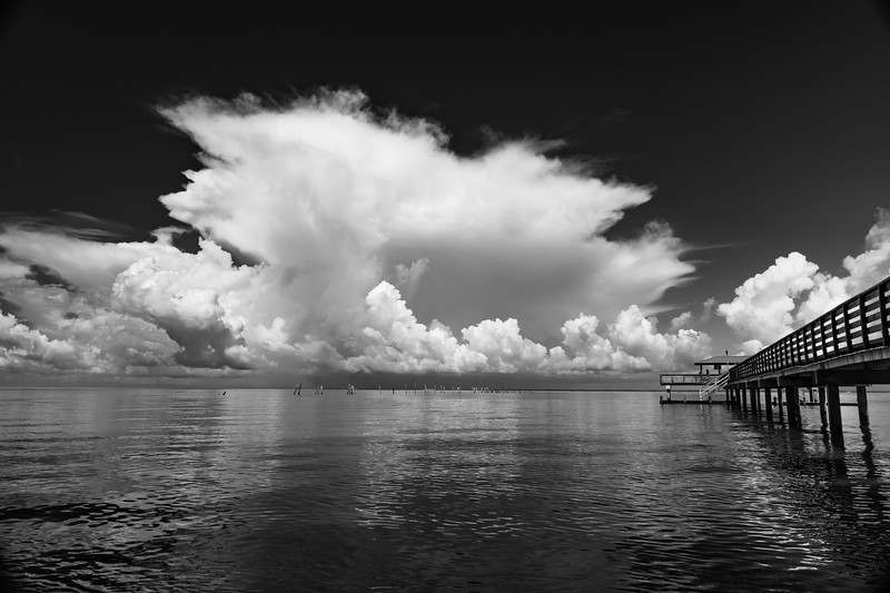 Storm Cloud & Pier BW 061619 (1 of 1).jpg
