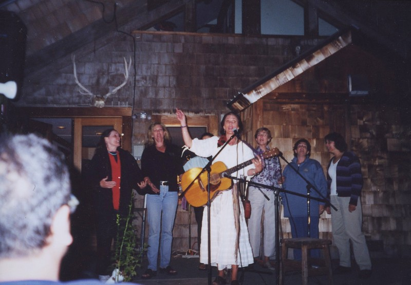 1990s - 2000s - Sands Hall singing at follies.jpeg