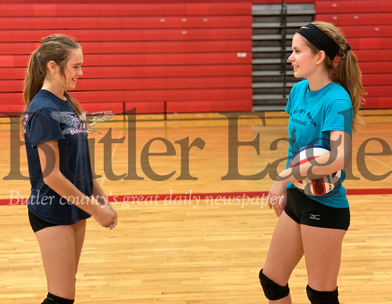 Taylor Balint, left, and Annika Peale.