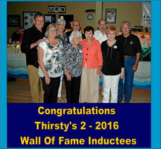 2016 Thirsty's 2 Wall Of Fame Announcement Party