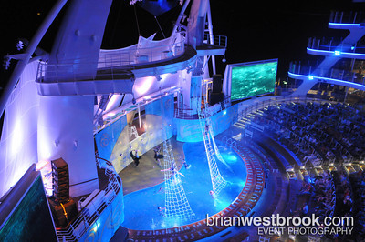 OceanAria water show on Allure of the Seas