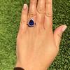7.00ctw Tanzanite and Diamond Halo Ring 16
