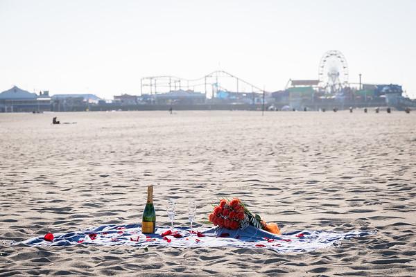 Steven's Amazing Surprise proposal Santa Monica.