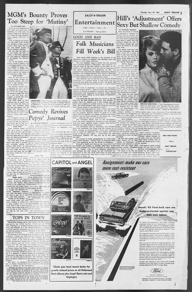 Daily Trojan, Vol. 54, No. 43, November 29, 1962