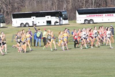 Womens 6K Start - 2015 NCAA D1 XC Great Lakes Regional