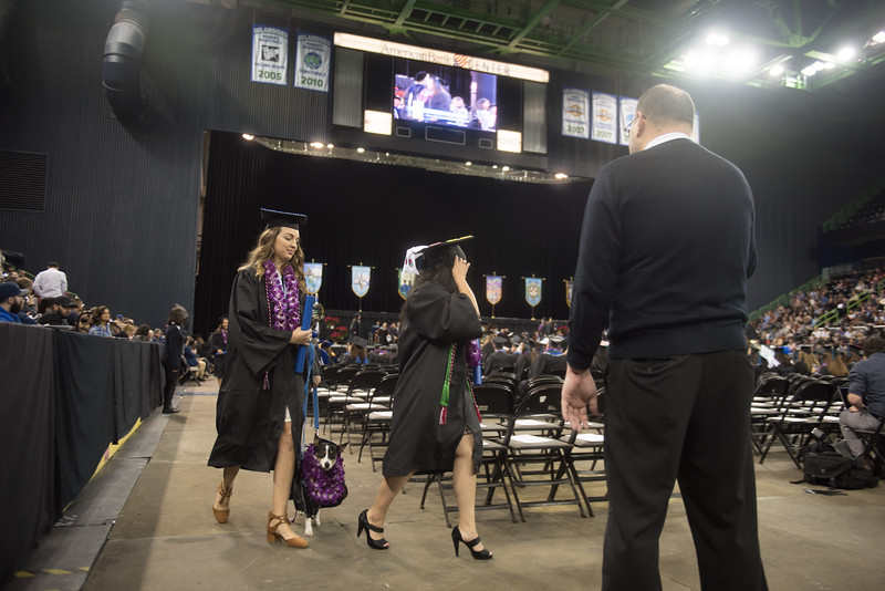 Over 840 Islanders representing the university's five academic colleges received their degrees during two commencement ceremonies held on December 16, 2017.