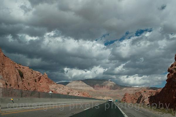Hwy 15, entering Utah.
