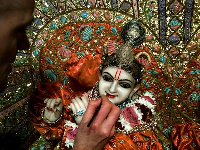 Krishna painted Deities