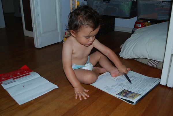 Arthur's Art Work on Mommy's Calendar