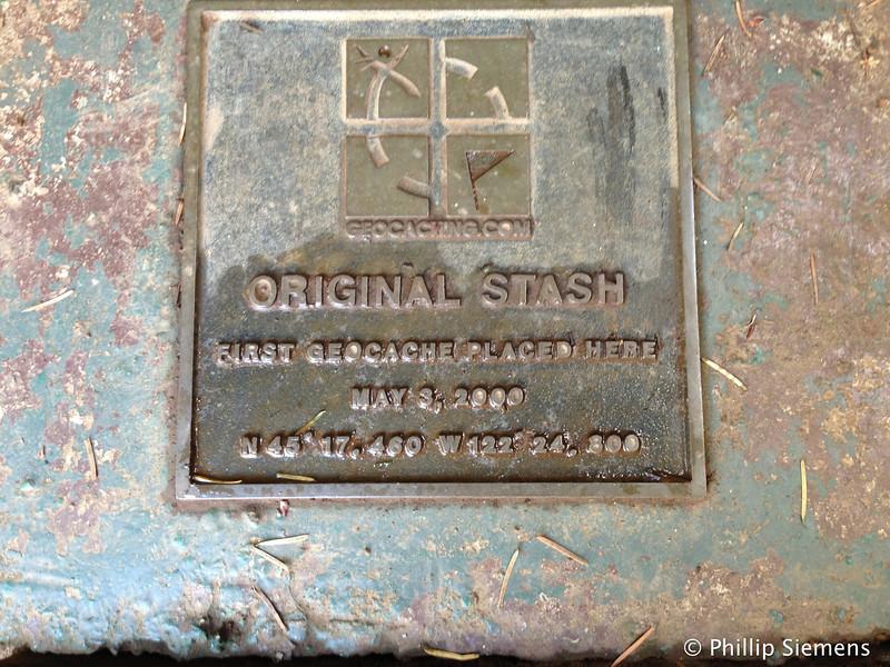 The Original Stash marker: the beginning of geocaching