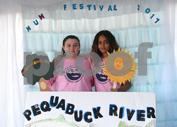 9/23/2017 Mike Orazzi   Staff Maggie Welton and Elizabeth Diaz during the 56th Annual Chrysanthemum Festival on Saturday in Bristol.