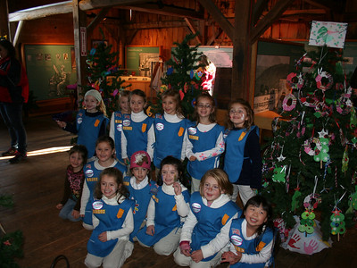 Girl Scouts-Decorating of Trees