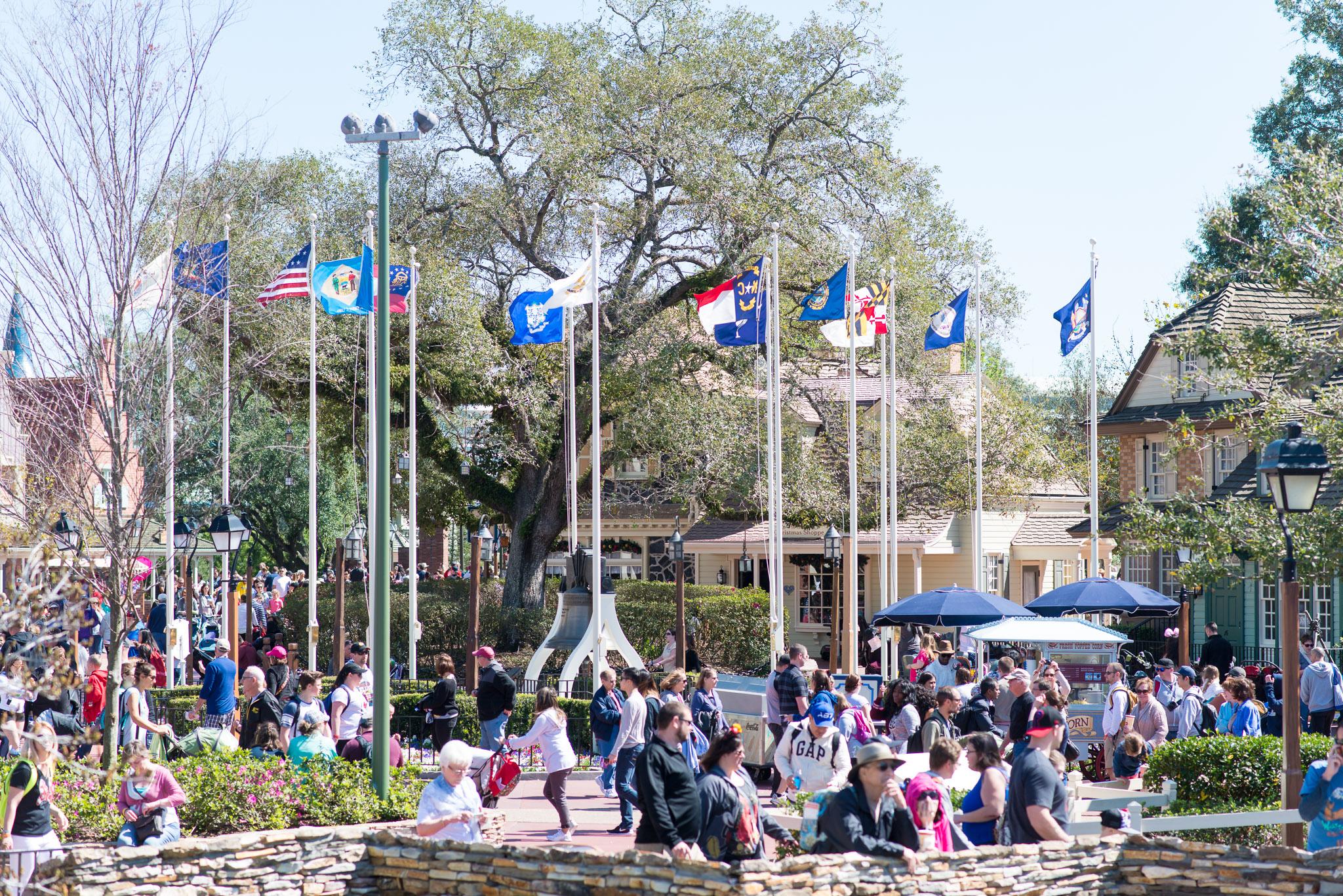 Liberty Square Flags - Walt Disney World Magic Kingdom