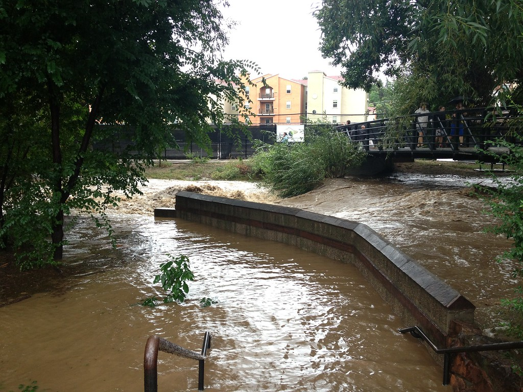 . This was Boulder Creek as it flows under 28th street in Boulder.  Photo by Kyle Hanson