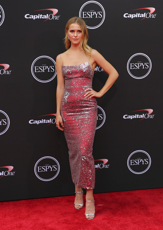 . Mallory Edens arrives at the ESPY Awards at Microsoft Theater on Wednesday, July 18, 2018, in Los Angeles. (Photo by Willy Sanjuan/Invision/AP)