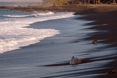 Black Sand Beach at Kiholo Bay January 2013, Cynthia Meyer, Hawaii