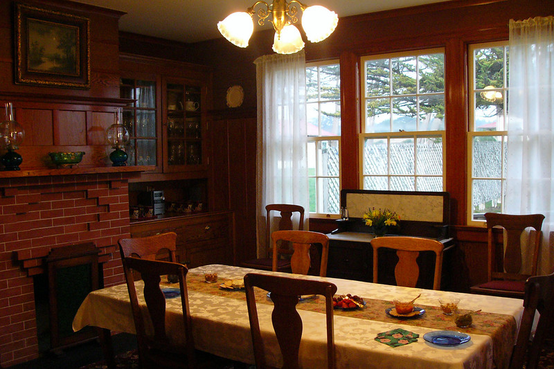 The dining room on my arrival.  Since I was paddling the next morning, I apologized to the innkeeper that I wouldn't be able to stay for the signature breakfast.  But, Jim, ever the graceful host, woke me at 6:30, with breakfast made just for me.... I felt very special.