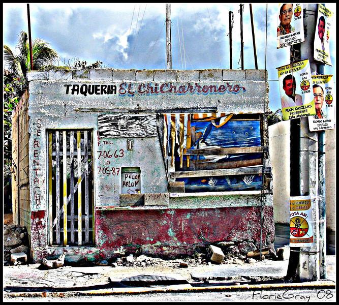 Taqueria, Isla Mujeres  ©2008 FlorieGray