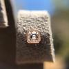 .52ctw Asscher Cut Diamond Bezel Stud Earrings, 18kt Rose Gold 6