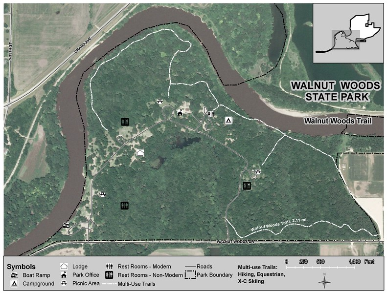 Walnut Woods State Park (Trail Map)