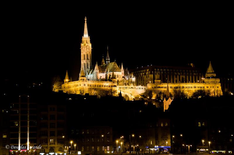 Matthias Church, Budapest, at night