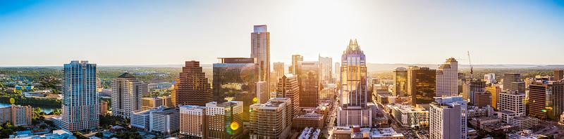 City of Austin Skyline - Sun, Aug 7, 2016