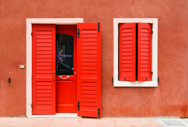 Brightly Painted House, Caorle, Veneto