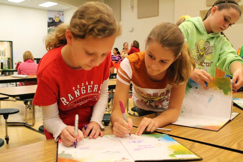 Yearbook Signing - Grace Chandler, Sarah Sign, Eva Bickel.JPG