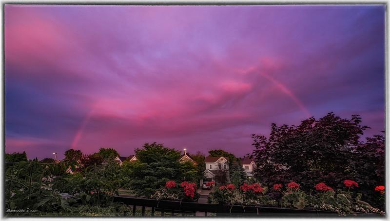 Odd Rainbow at Sunset