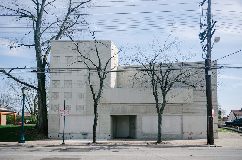 Abandoned movie house in Pleasant Ridge part of Cincinnati.
