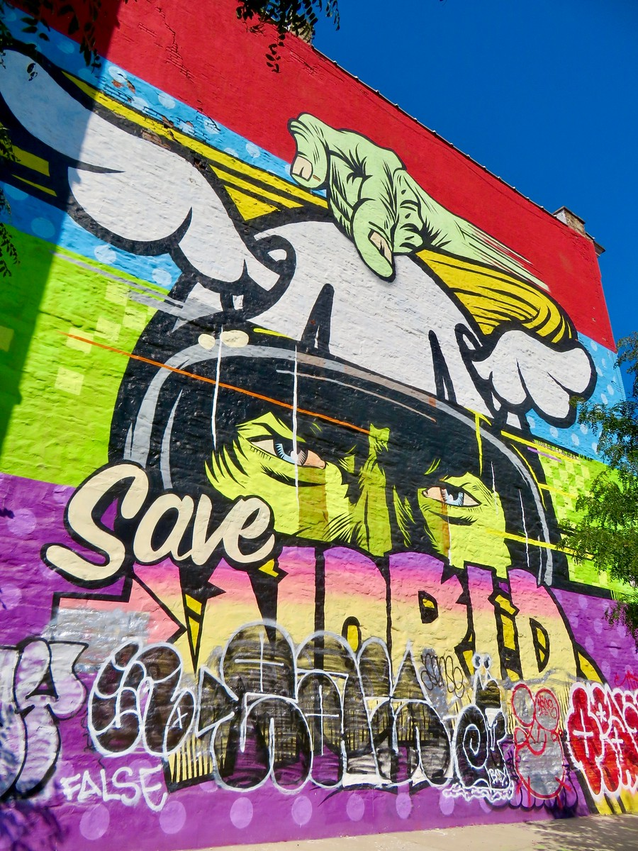 D*Face Kaspersky Lab Mural - Save the world Greenpoint Brooklyn