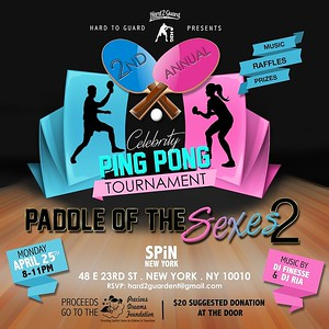Celebrity Ping Pong Tournament-Paddle of The Sexes 2 at SPIN New York (4.25.16)