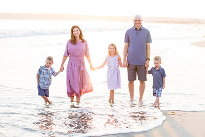 Family Photographs on the beach at the Hotel Del Coronado - sunset photographs - Ellis