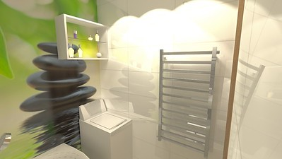 Malá koupelna s vanou