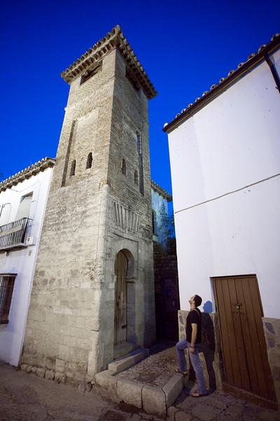 San Sebastian minaret, town of Ronda, province of Malaga, Andalusia, Spain