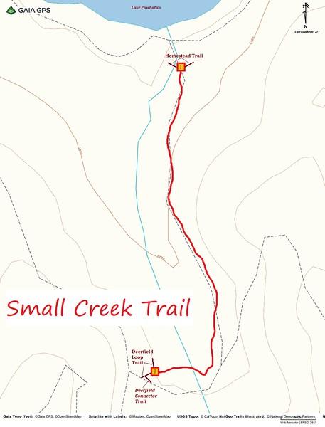 Small Creek Trail Map