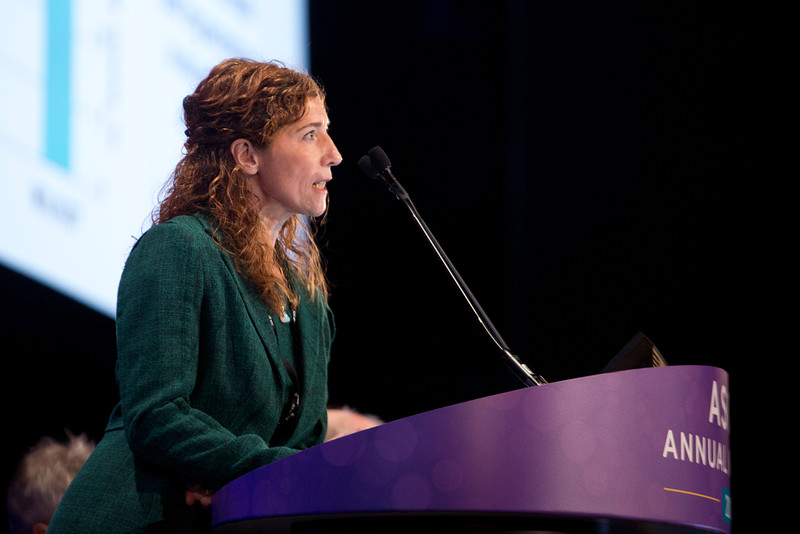 Veronika Bachanova, MD, speaks during Immunotherapeutic Approaches to Treating Hematologic Malignancies