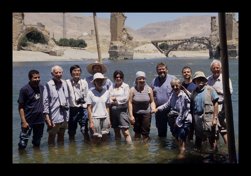 Jim and group at the Tigris River, Turkey - 2003.jpg
