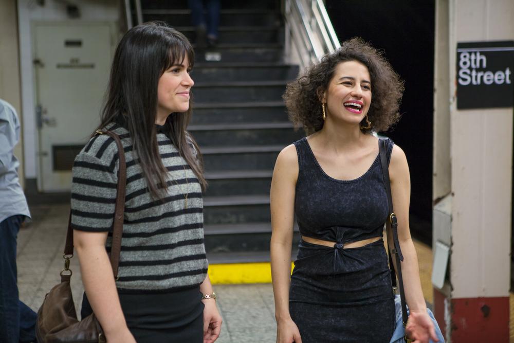 ". Abbi Jacobson and Ilana Glazer (l-r) \""Broad City.\"" (Photo by Linda Kallerus)"