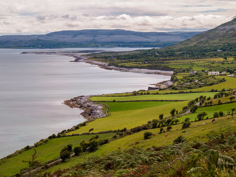 North Clare coast from Gleninagh Mountain