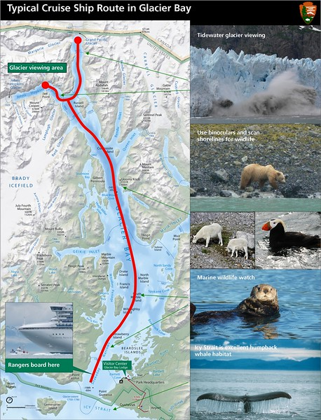 Glacier Bay National Park and Preserve (Cruise Ship Route)