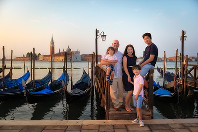 The Grieve Family in Venice