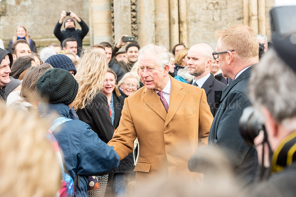Prince of Wales visit to Ely Farmers Market